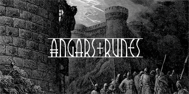 Angars Runes PERSONAL USE ONLY Font poster