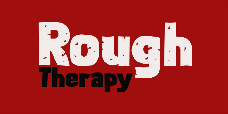 Rough Therapy DEMO Font design cartoon