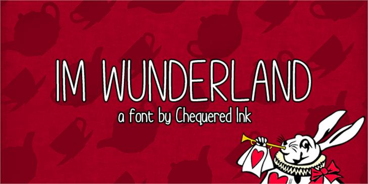 Im Wunderland Font cartoon poster