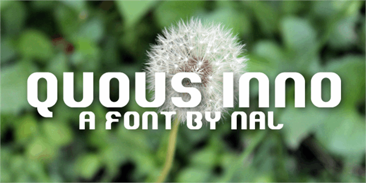 Quous Inno Font tree flower