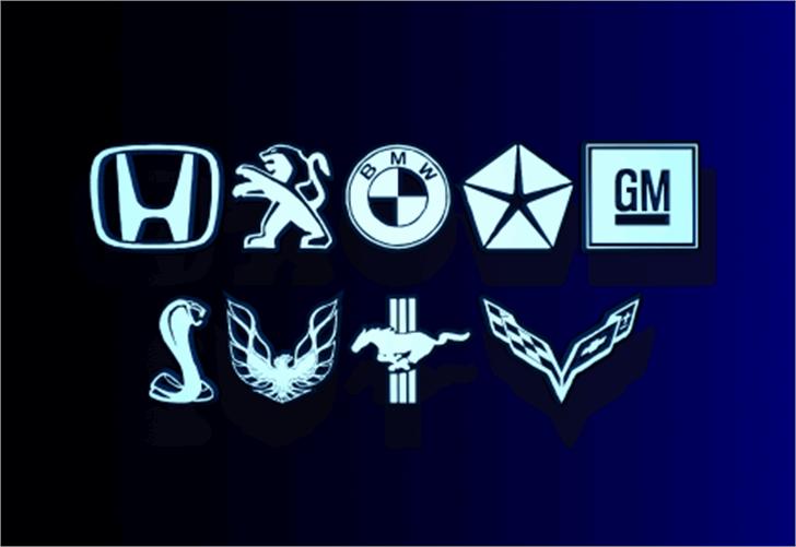Motorama Font car logos