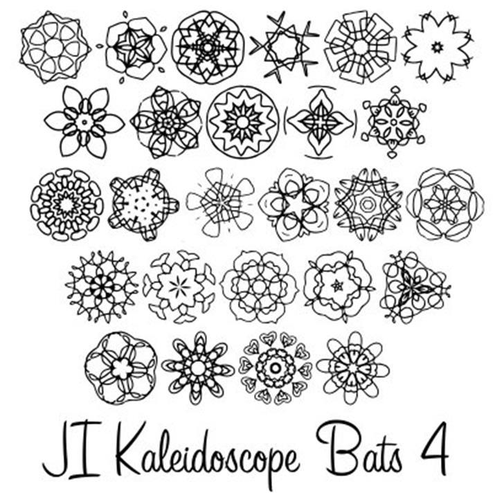 JI Kaleidoscope Bats 4 Font pattern cartoon