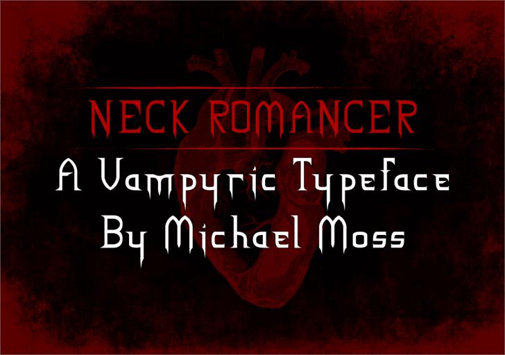 NECK ROMANCER Font text screenshot