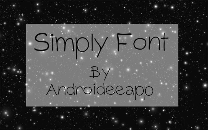 Simply Font screenshot text