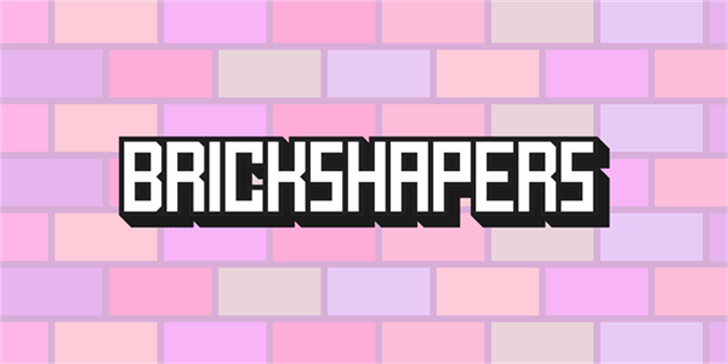 BrickShapers Font screenshot design