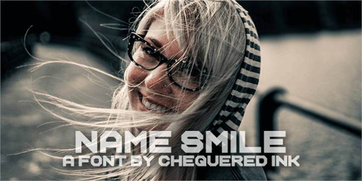 Name Smile font by Chequered Ink