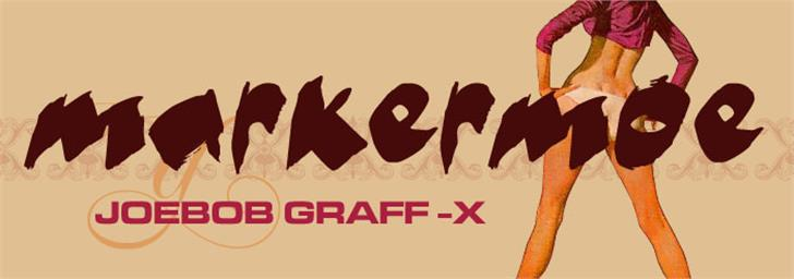 markerMoe II Font design cartoon