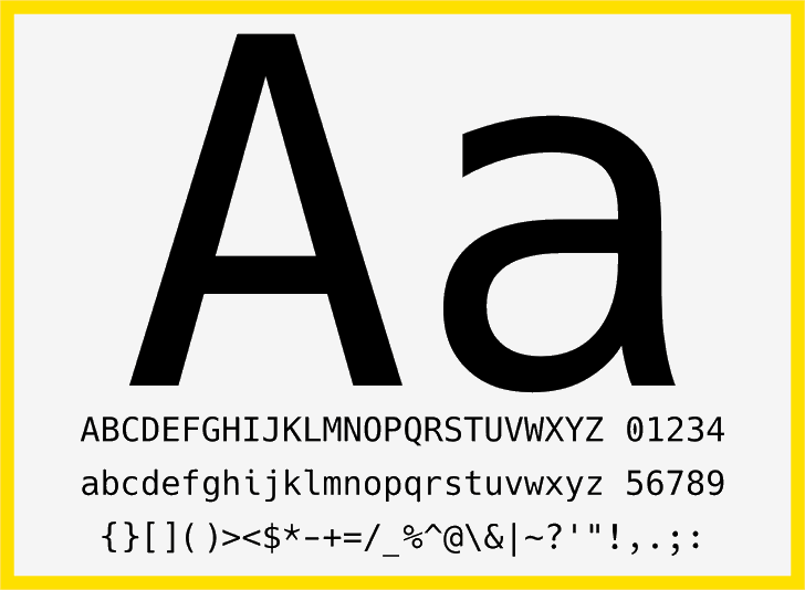 Hack font by Chris Simpkins
