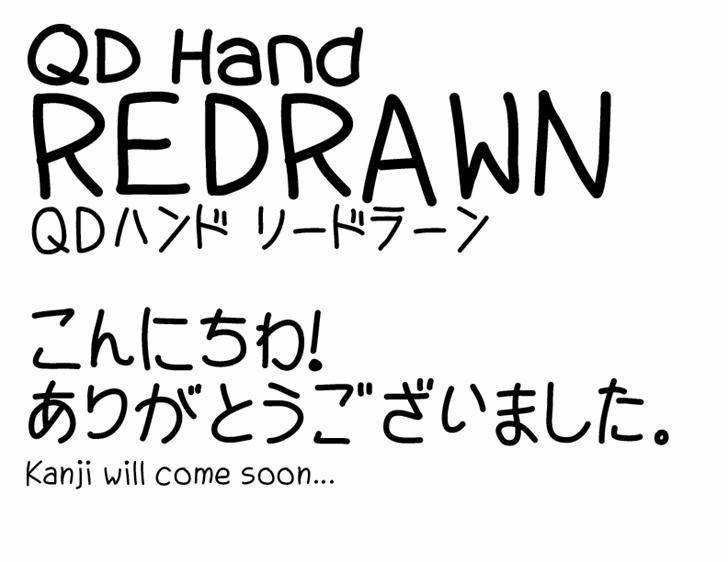 QDHandRedrawn Font poster