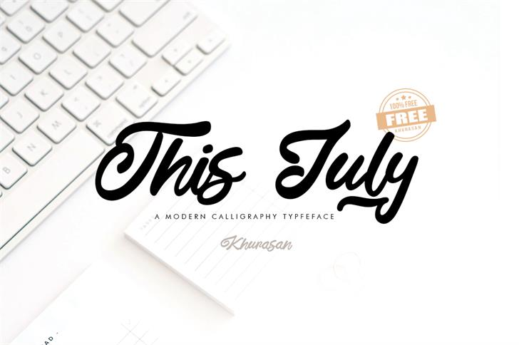 This July Font design