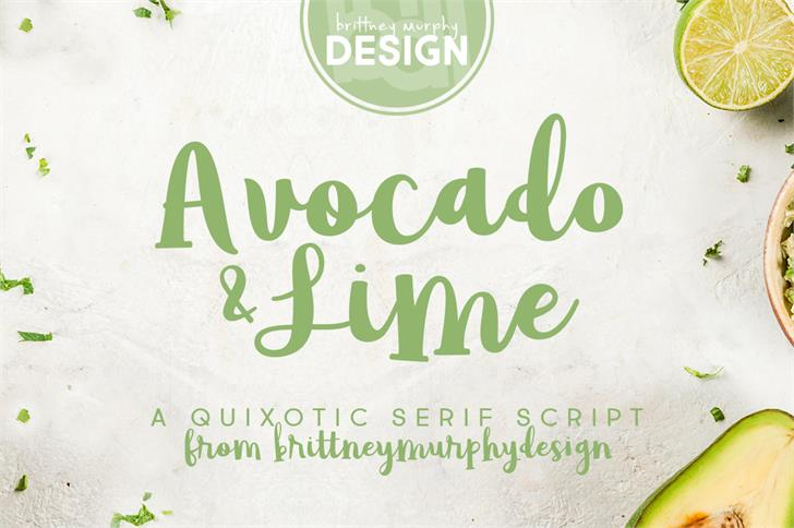 Avocado & Lime font by Brittney Murphy Design