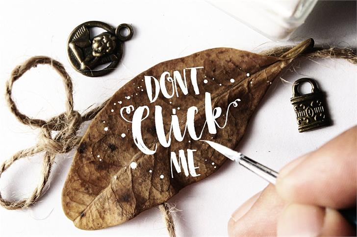 Dont Click Me DEMO Font handwriting watch