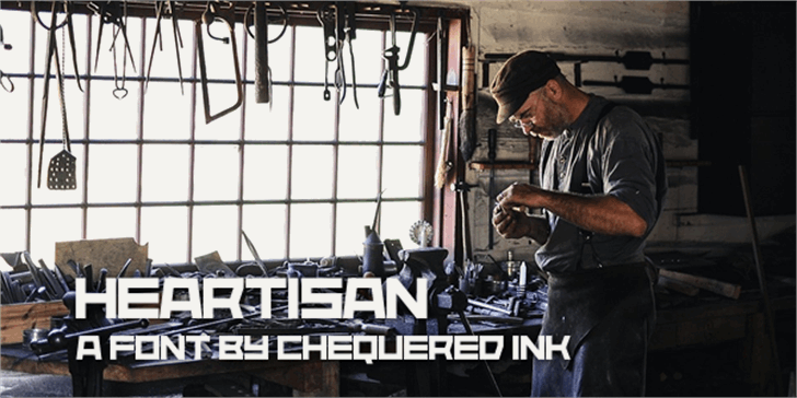 Heartisan Font poster