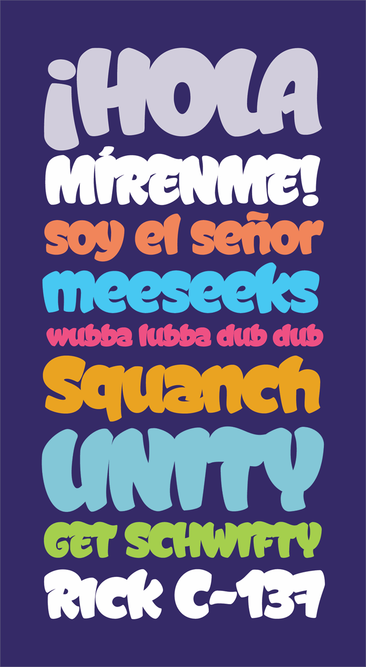 Graffismo Font poster cartoon