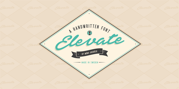 Elevate PERSONAL USE ONLY Font design typography