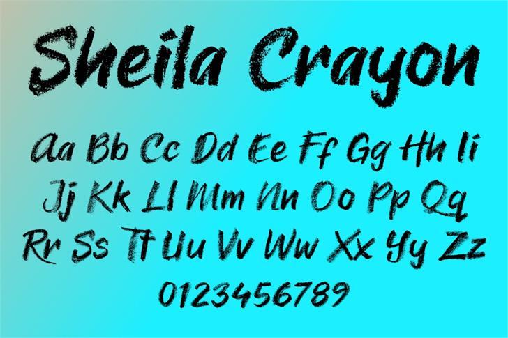 Sheila Crayon Font poster