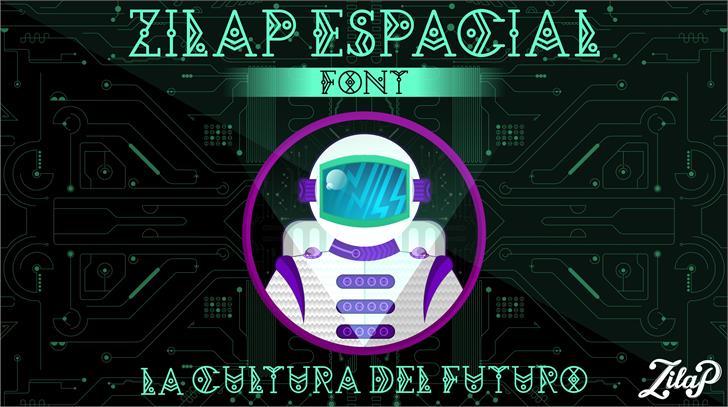 Zilap Espacial Font screenshot cartoon