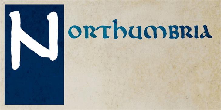 DK Northumbria Font handwriting text