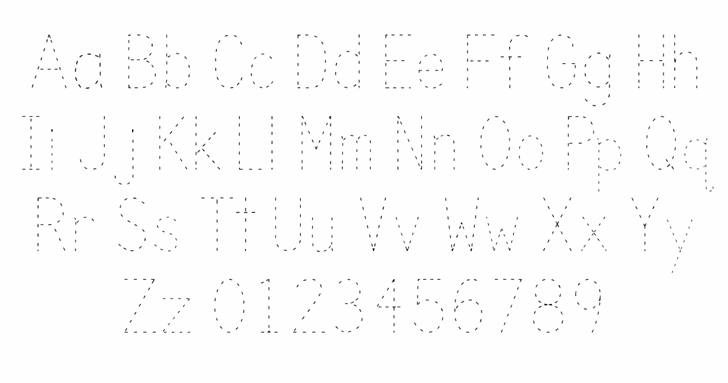 Trace font by Kids Fonts