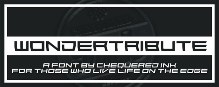 Wondertribute Font screenshot poster