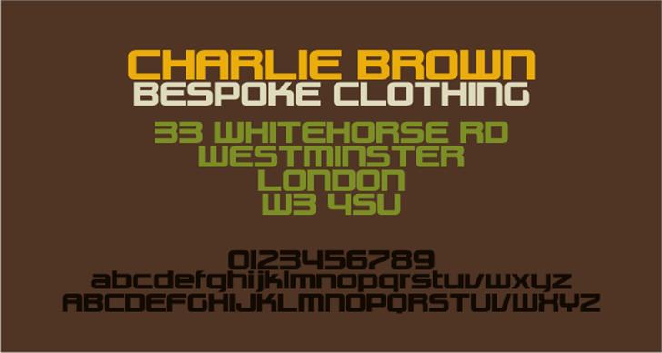 Charlie Brown M54 Font design poster