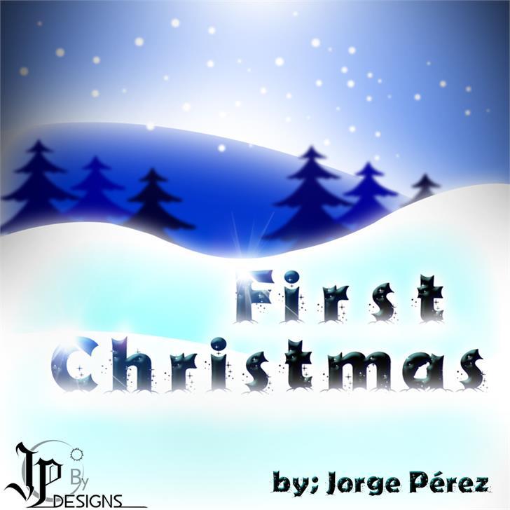 Firts Christmas font by LJ Design Studios