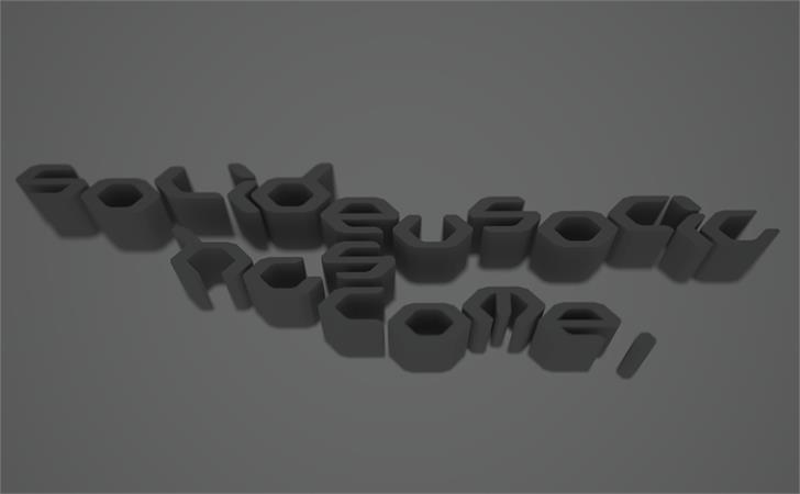 Eusocia solid Font design indoor