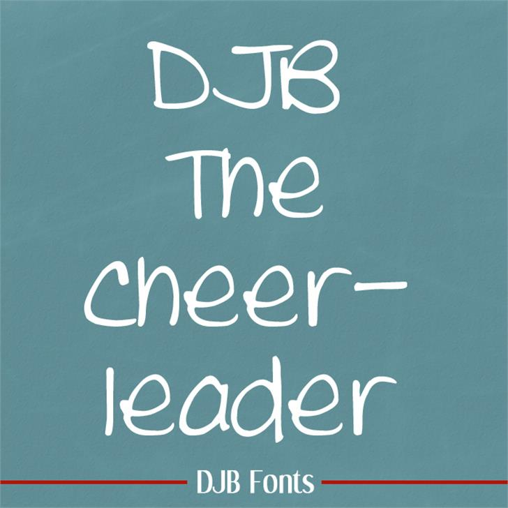 DJB THE CHEERLEADER Font blackboard text