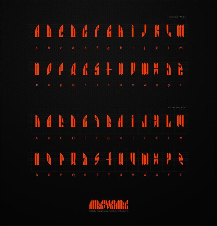 AngryOrange Font poster screenshot