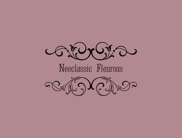 NeoclassicFleuronsFree font by Intellecta Design