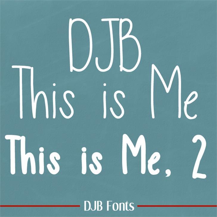 DJB This is Me Font blackboard handwriting