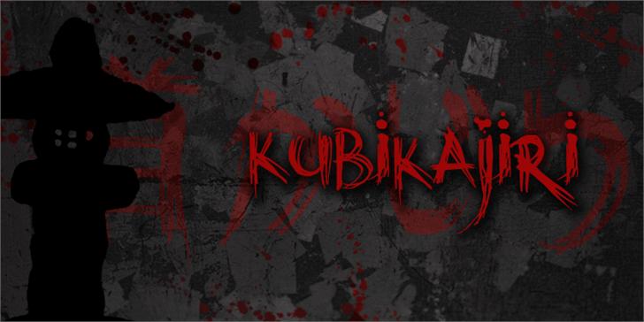DK Kubikajiri Font handwriting lit