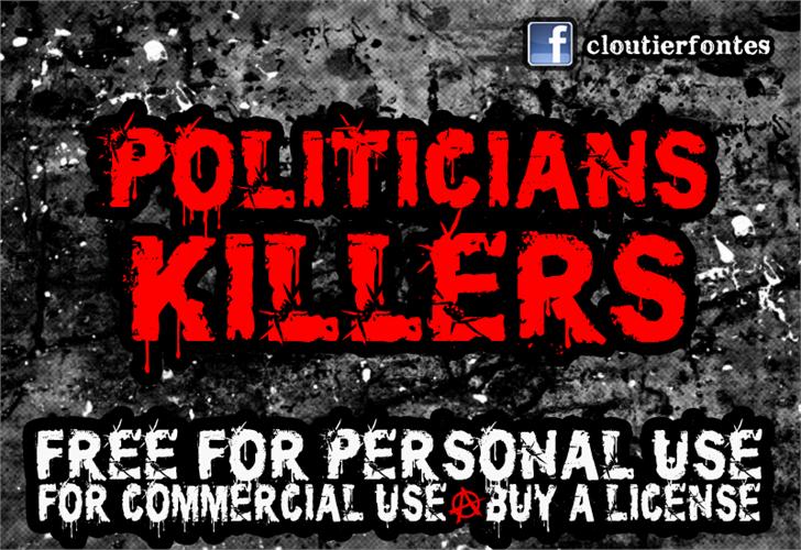 CF Politicians Killers Font poster text