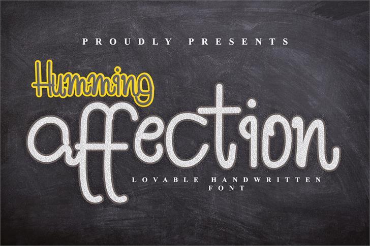 Humming Affection Font poster