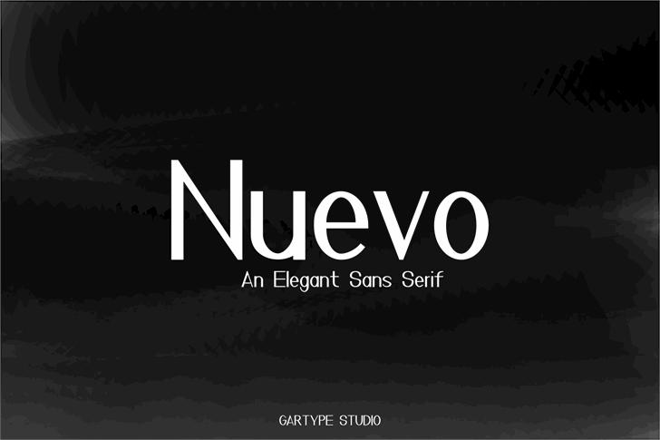 Nuevo Font screenshot design