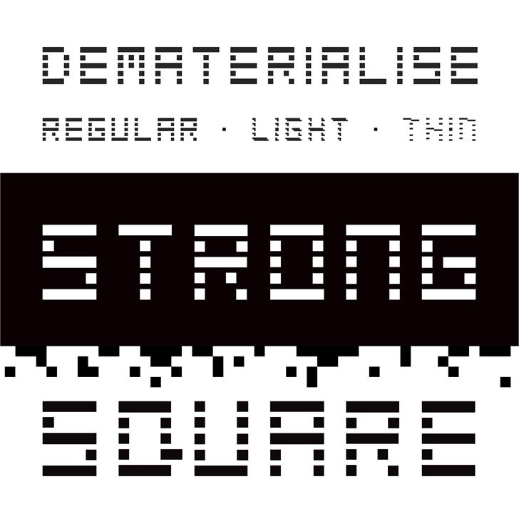 Dematerialise Font screenshot design