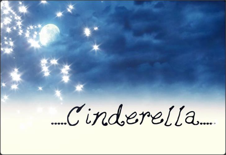 Cinderella Font sky handwriting