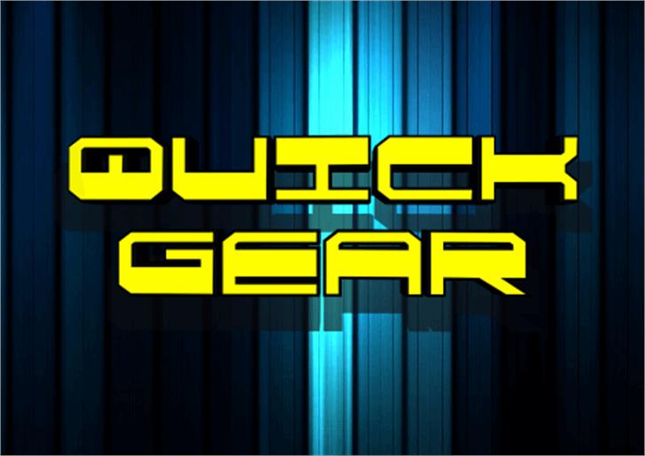 QuickGear Font screenshot