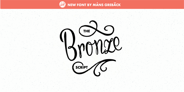 Bronze Script Personal Use Font design handwriting