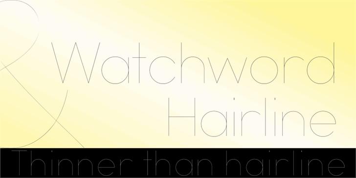 Watchword Hairline Demo Font design typography