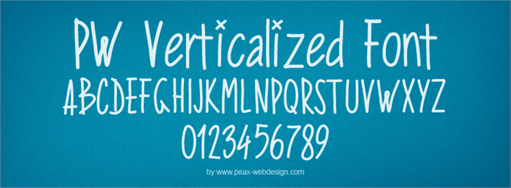 PWVerticalized Font text typography