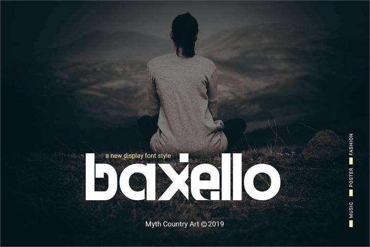 Baxello Font poster