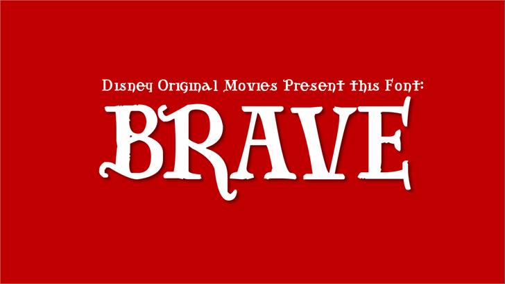 Brave Font design poster