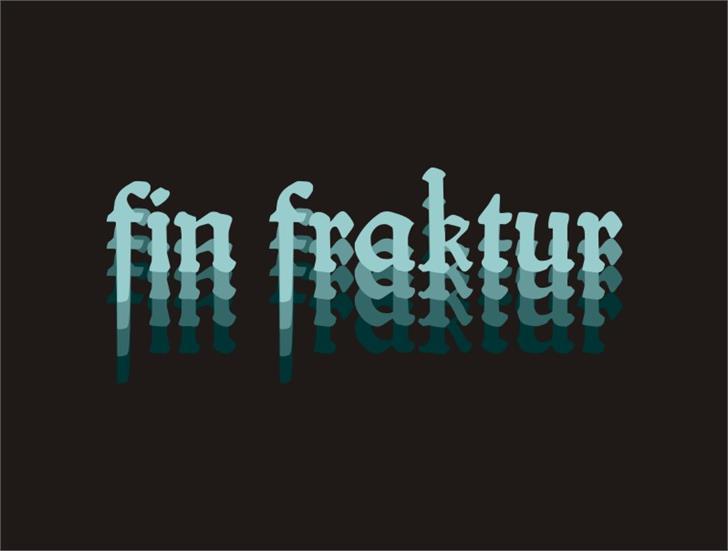 fin fraktur Font screenshot design
