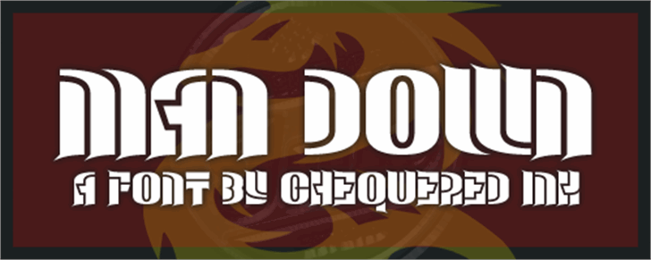 Man Down Font poster design