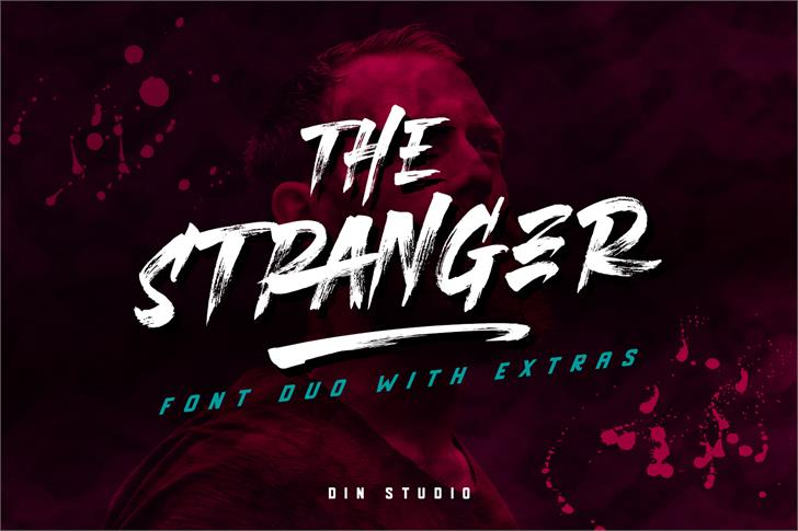 THE STRANGER FONT DUO Font poster