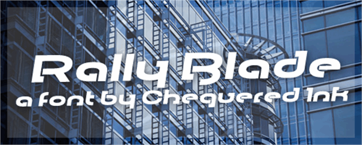 Rally Blade Font building outdoor