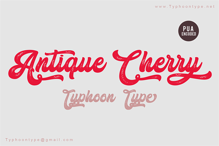Antique Cherry - Personal Use Font poster
