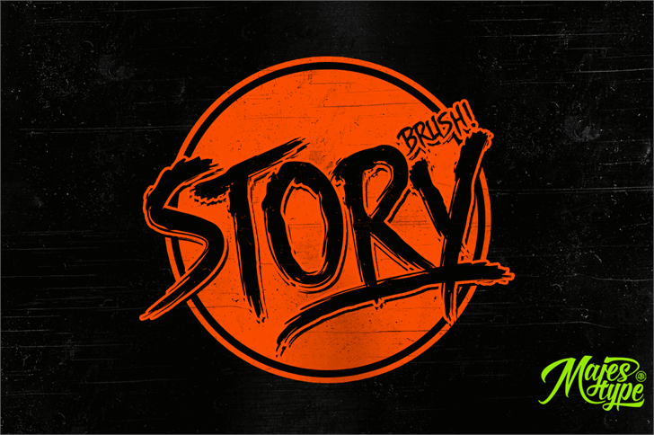 DHF Story Brush Font drawing design