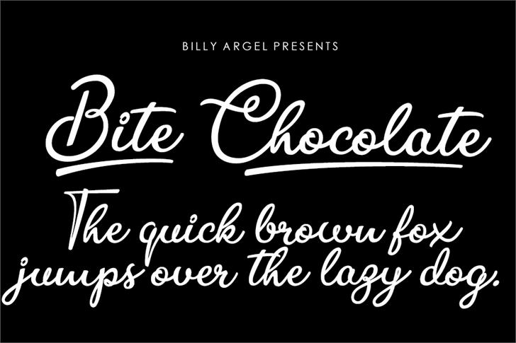 Bite Chocolate Font design typography
